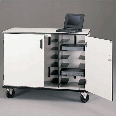 Fleetwood 15-Compartment Laptop Storage Cart