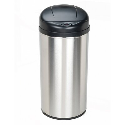 12.9-Gal Stainless Steel Motion Sensor Trash Can by Nine Stars