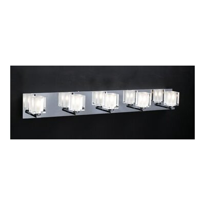 Glacier 5 Light Vanity Light Product Photo