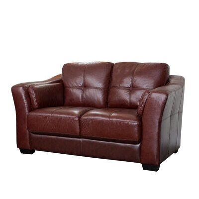 Abbyson living sedona reclining italian leather sofa and for Abbyson living sedona leather chaise recliner
