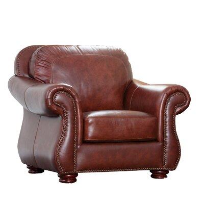 Harbor Premium Semi-Aniline Leather Armchair by Abbyson Living