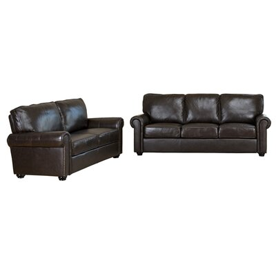 abbyson living bliss leather sofa and loveseat set reviews wayfair