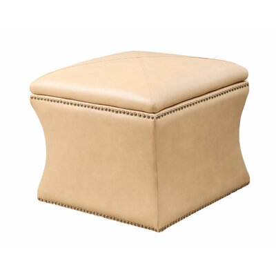 Samantha Bonded Leather Storage Ottoman by Abbyson Living