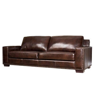 abbyson living beverly leather sofa reviews wayfair