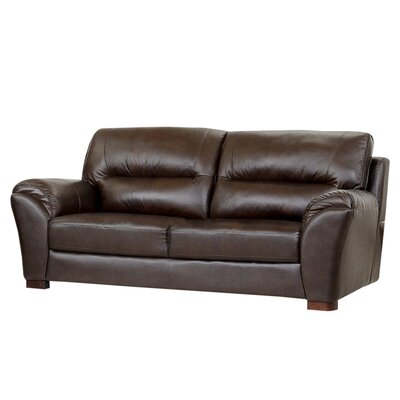 abbyson living caprice leather sofa reviews wayfair supply