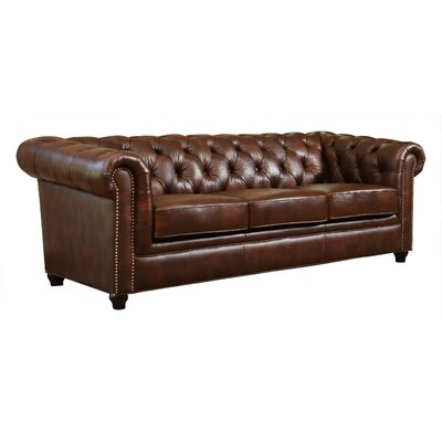 Bedell Hand Rubbed Top Grain Leather Sofa by Abbyson Living