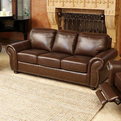 Elm Top Grain Leather Sofa by Abbyson Living