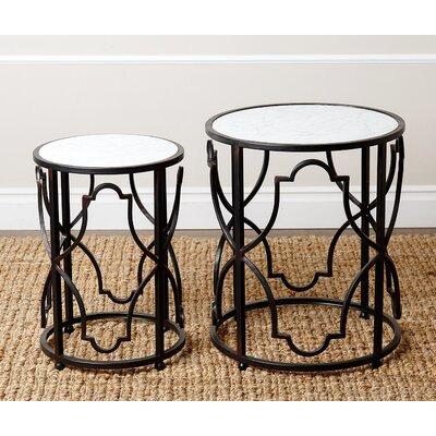 Rosewood 2 Piece Nesting Tables by Abbyson Living