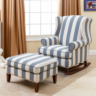 Chelsie Rocking Chair and Ottoman by Abbyson Living