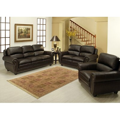Gail Premium Sofa, Loveseat and Arm Chair Set by Abbyson Living