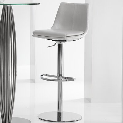 Monte Carlo Adjustable Height Swivel Barstool with Cushion by Bellini Modern Living
