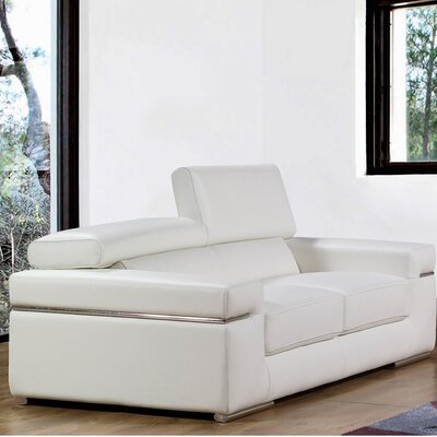 Emilia Leather Loveseat by Bellini Modern Living