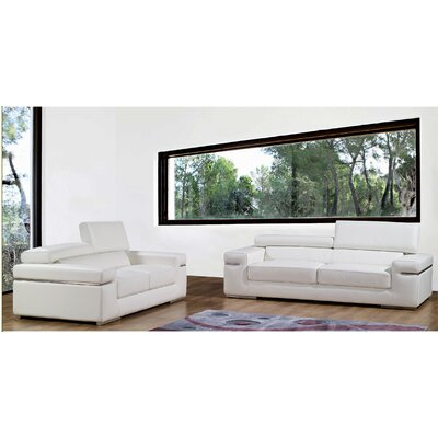 Emilia Leather Living Room Collection Wayfair