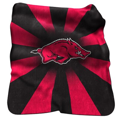 NCAA Arkansas Raschel Throw by Logo Chairs