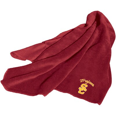 NCAA University Of Southern California Fleece Throw by Logo Chairs