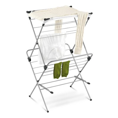 Honey Can Do Two Tier Mesh Top Drying Rack in Navy Blue