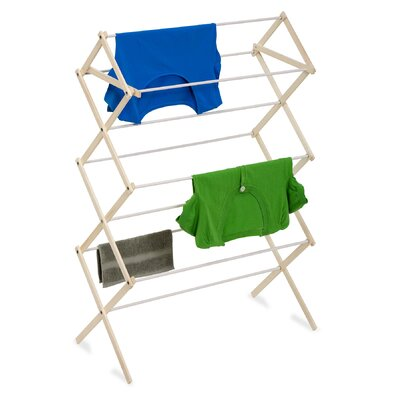 Wood Folding Clothes Drying Rack by Honey Can Do