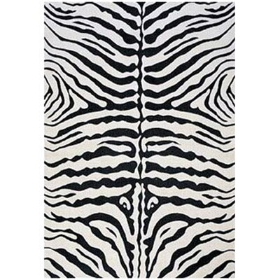 Supreme Black/White Zebra Print Area Rug by LA Rugs