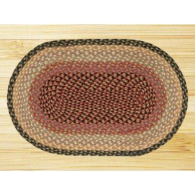 Earth Rugs Burgundy/Gray/Crème Braided Area Rug