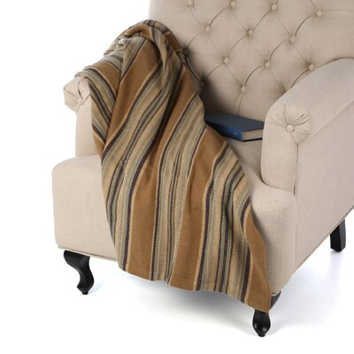Heron Stripe Woven Cotton Throw by Dash and Albert Rugs
