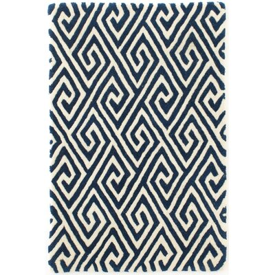 Fretwork Navy Area Rug by Dash and Albert Rugs