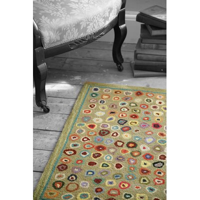 Dash And Albert Rugs Hooked Cats Paw Sage Micro Geometric