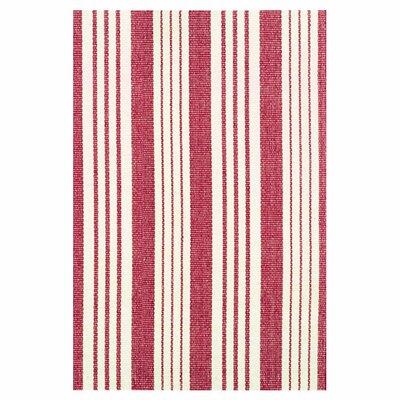 Dash and Albert Rugs Woven Birmingham Red/White Indoor Area Rug