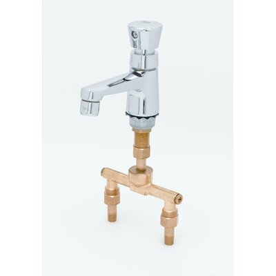 T&S Brass Single Hole Faucet with Single Push Handle