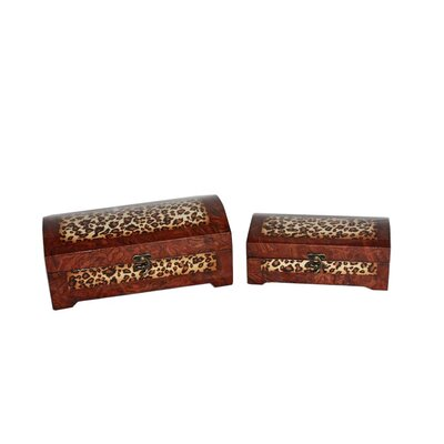 Cheungs Two Piece Wooden Treasure Chest Set