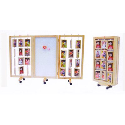 """A+ Child Supply 38"""" x 19"""" Multi Functional Photo Display 3 Panel Room Divider"""