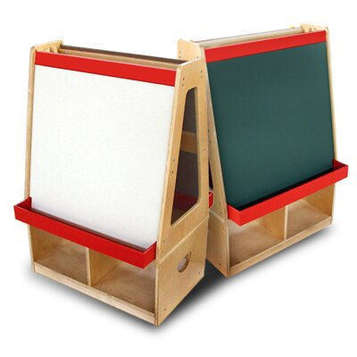 A+ Child Supply Easel with Storage Compartments