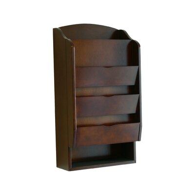 Proman Products Door Entry Organizer with Mail Sorter in Dark Walnut