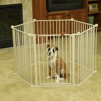 Convertible Indoor Outdoor Six Panel Doggy Playpen
