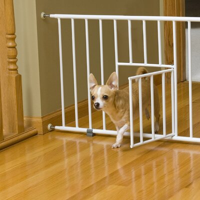 Mini Pet Gate with Pet Door by Carlson Pet