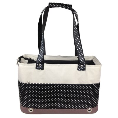 Fashion Tote Spotted Pet Carrier by Pet Life