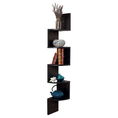 Corner zig zag wall shelf wayfair - Danya b corner shelf ...