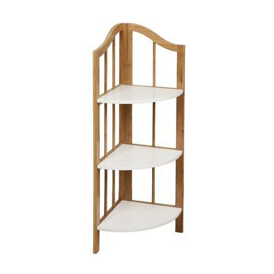 danyab bamboo bathroom corner shelf unit reviews wayfair. Black Bedroom Furniture Sets. Home Design Ideas