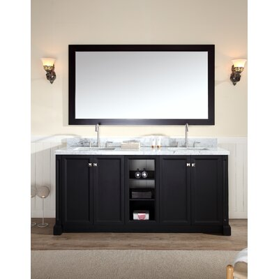 """Westwood 73"""" Double Sink Vanity Set with Mirror Product Photo"""