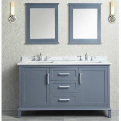 "Nantucket 60"" Double Bathroom Vanity Set with Mirror Product Photo"