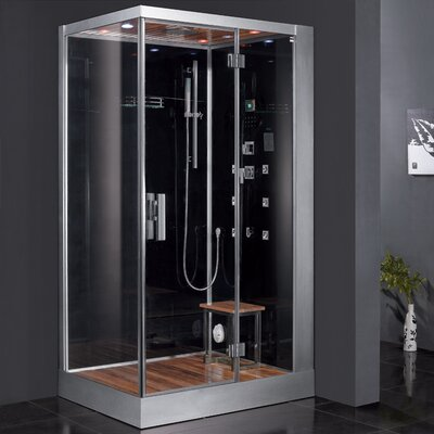 "Platinum 47"" x 35.4"" x 84.6"" Pivot Door Steam Shower with Right Side Configuartion Product Photo"