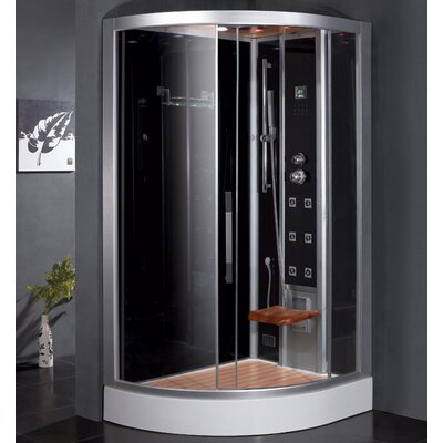 "Platinum 47.7"" x 35.4"" x 89"" Pivot Door Steam Shower with Right Side Configuartion Product Photo"