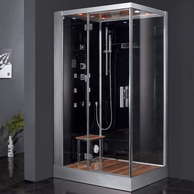 "Platinum 47"" x 35.4"" x 84.6"" Pivot Door Steam Shower with Left Side Configuartion Product Photo"