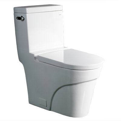 Oceanus Contemporary 1.6 GPF Elongated 1 Piece Toilet Product Photo