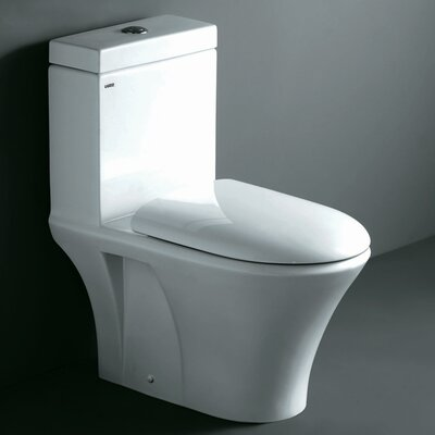 Milano Contemporary Elongated 1 Piece Toilet with Dual Flush Product Photo