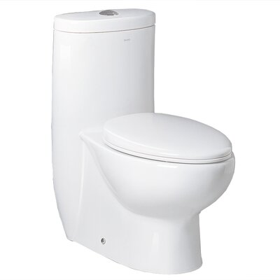 Hermes Contemporary Elongated 1 Piece Toilet Product Photo