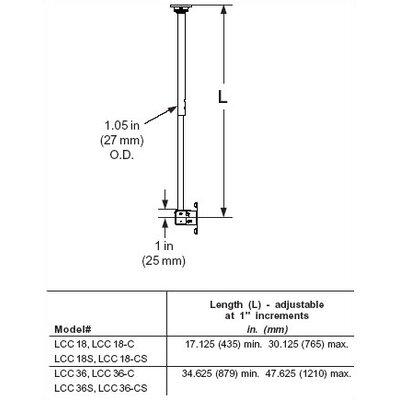 "Peerless Peerless TV and Projector Tilt/Swivel Ceiling Mount for 13"" - 29"" LCD"