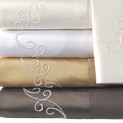 Supreme Sateen 800 Thread Count Scroll Pillowcase by Veratex