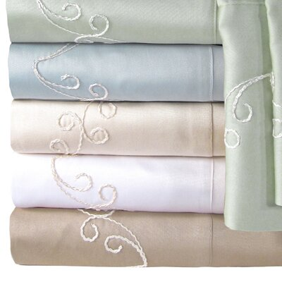 Supreme Sateen 300 Thread Count Scroll Pillowcase by Veratex