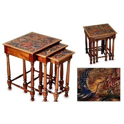 Novica Andean Garden 3 Piece Nesting Tables