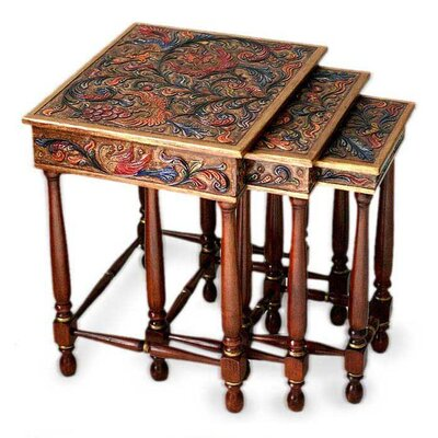 Paradise 3 Piece Nesting Tables by Novica